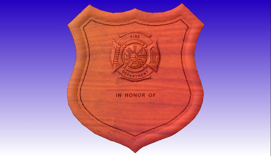 Fire Department Plaque with Maltese Cross stl files and dxf files -  3D CNC Vector Art