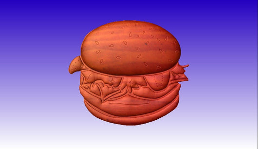 Cheeseburger/Hamburger Vector Relief CNC Art Model -  3D CNC Vector Art