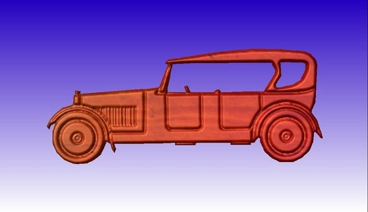 Old Car No. 2 Vector Relief Model -  3D CNC Vector Art