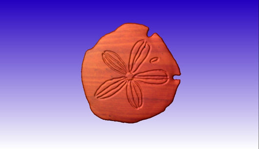 Sand Dollar Vector Art Relief Model -  3D CNC Vector Art