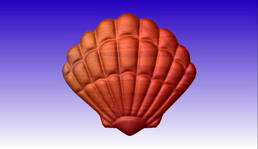 Shell Vector Art CNC Relief Model -  3D CNC Vector Art