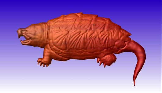 Snapping Turtle 3D Vector Art -  3D CNC Vector Art