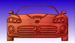 Sports Car CNC Vector Art -  3D CNC Vector Art