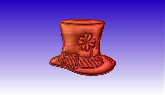 St. Patrick's Day Hat Vector Art Relief Model -  3D CNC Vector Art