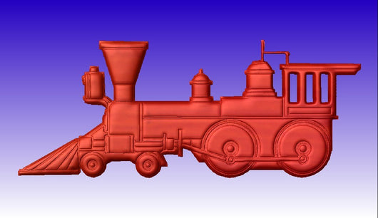 Toy Train 3D Vector Art -  3D CNC Vector Art
