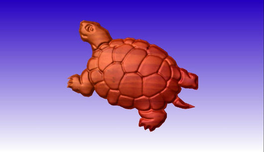 Turtle No. 3 CNC Vector Relief Model -  3D CNC Vector Art
