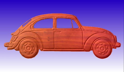 VW Bug CNC Vector Art -  3D CNC Vector Art