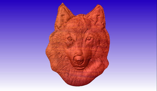 Wolf Vector Relief Model -  3D CNC Vector Art