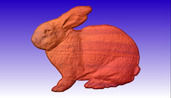 Rabbit Vector Relief Model -  3D CNC Vector Art