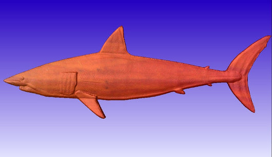 Shark Vector Relief Model -  3D CNC Vector Art