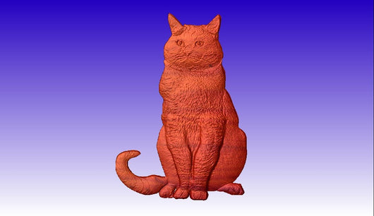 Cat Vector Relief Model -  3D CNC Vector Art