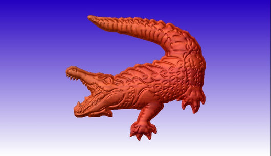 Alligator No. 1 CNC Model -  3D CNC Vector Art