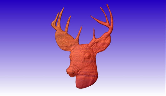 Deer Head Vector Relief Model -  3D CNC Vector Art