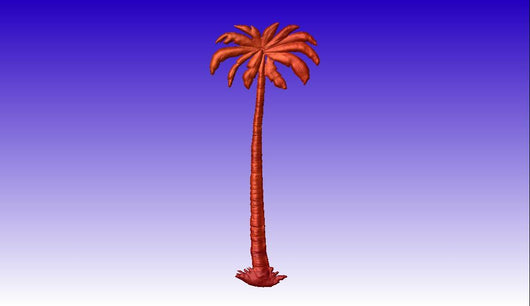 Palm Tree Vector Relief Model -  3D CNC Vector Art