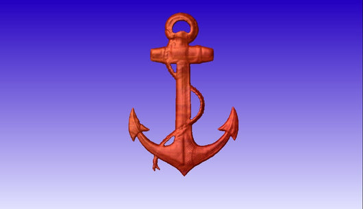 Anchor CNC  3DVector Model -  3D CNC Vector Art