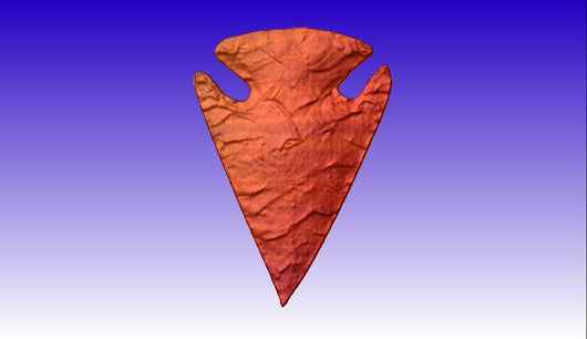 Flint Arrowhead Vector Relief Model -  3D CNC Vector Art