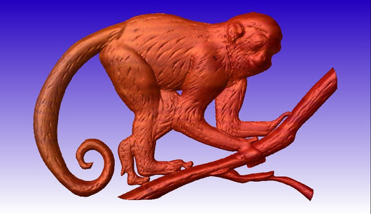 Monkey Vector Relief Model -  3D CNC Vector Art