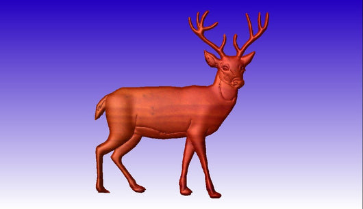 Deer Buck 3D Vector Art Model -  3D CNC Vector Art