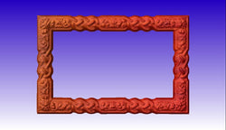 Decorative Picture Frame CNC Vector Relief Art -  3D CNC Vector Art