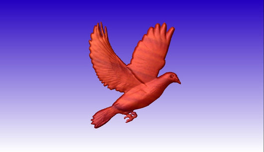 Dove Vector Art Model -  3D CNC Vector Art