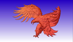 Eagle on Attack CNC Vector Art Relief Model