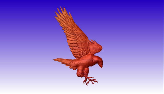 Eagle 3D Vector Art -  3D CNC Vector Art