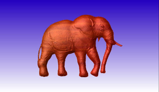 Elephant CNC Vector Art Relief Model -  3D CNC Vector Art