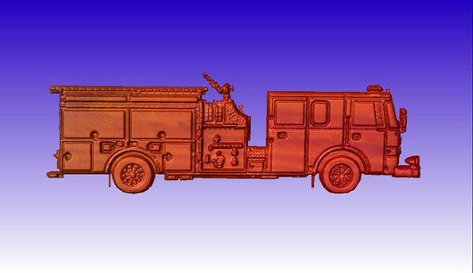 Fire Truck CNC Vector Art Model -  3D CNC Vector Art
