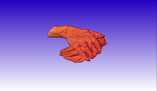 Folded Hands Vector Relief Model -  3D CNC Vector Art