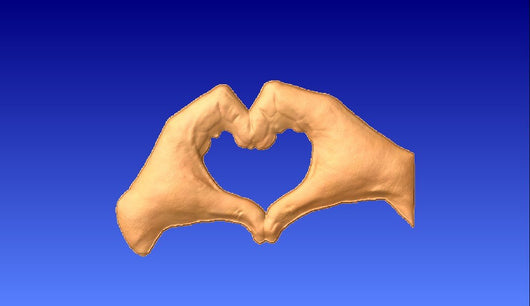 Hands in the Shape of a Heart 3D Vector Relief Model -  3D CNC Vector Art