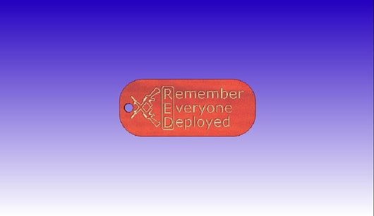 Remember Everyone Deployed Pendant -  3D CNC Vector Art