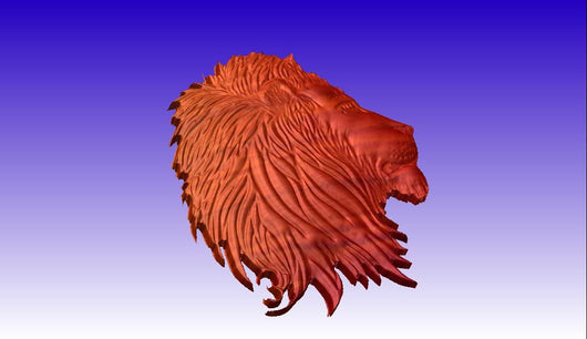 Gale Lion Vector Relief Model -  3D CNC Vector Art