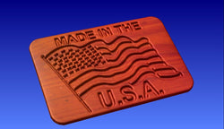 Made in the USA Sign Vector Relief Model -  3D CNC Vector Art
