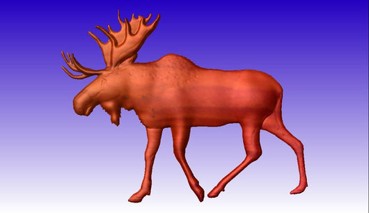 Moose 3D Vector Art Relief Model -  3D CNC Vector Art