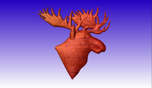 Moose Head 3D Vector Art Model -  3D CNC Vector Art
