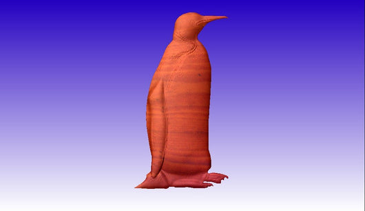 Penguin Vector Relief Model -  3D CNC Vector Art