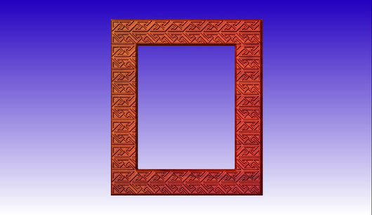 Decorated Photo Frame CNC Vector Relief Model -  3D CNC Vector Art