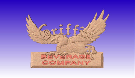 Griffin Logo -  3D CNC Vector Art