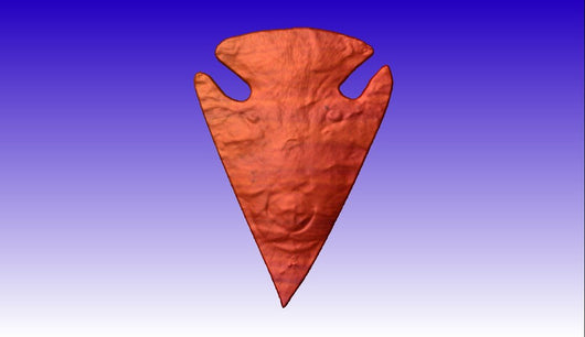 Spirit in Flint Arrowhead CNC Vector Relief Model -  3D CNC Vector Art