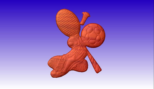 Sporting Goods CNC Vector Relief Model -  3D CNC Vector Art
