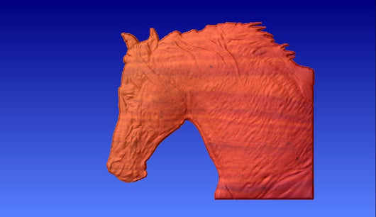 Horse Head 2 Vector Relief Model -  3D CNC Vector Art