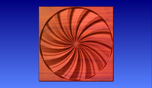 Swirl 5 Vector Relief Model -  3D CNC Vector Art