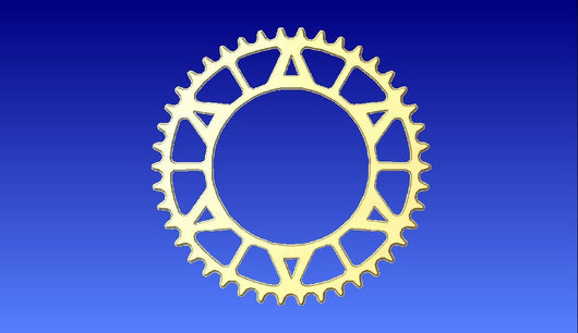 Sprocket Vector Relief Model -  3D CNC Vector Art