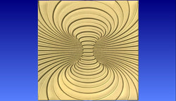 Swirl 6 Vector Relief Model -  3D CNC Vector Art