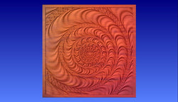 Swirl 1 Vector Relief Model -  3D CNC Vector Art