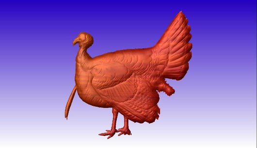 Turkey CNC Vector Art Model -  3D CNC Vector Art