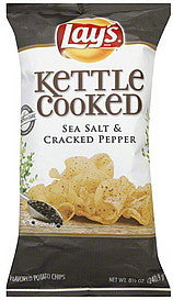Lays Potato Chips Sea Salt & Cracked Pepper Flavored, 8.5 oz