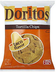 Doritos Tortilla Chips Taco Flavor, 11 oz