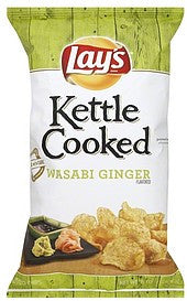 Lays Potato Chips Wasabi Ginger Flavored, 8 oz