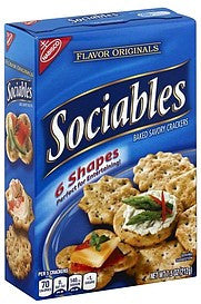 Sociables Crackers Baked Savory, 7.5 oz